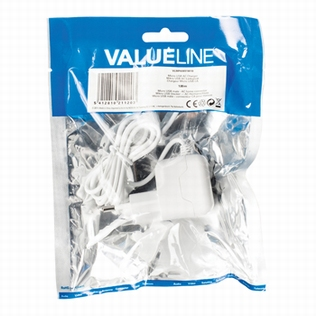 Valueline Micro USB AC Adapter wit 1m