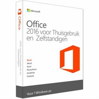 Microsoft Office 2016 Thuisgebruik & Zelfstandigen 1 PC
