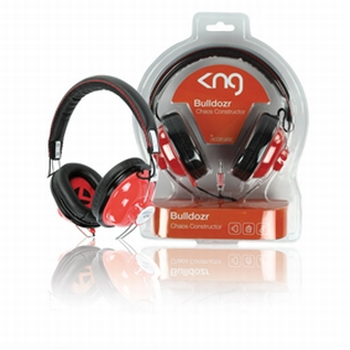 KNG HEADPHONES BULLDOZR RED