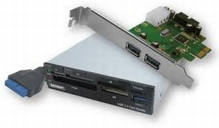 USB 3.0 Internal Card Reader and PCI-e adapter
