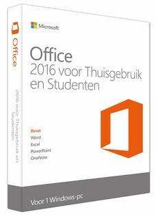 Microsoft Office Thuisgebruik & Student 2016 1-PC