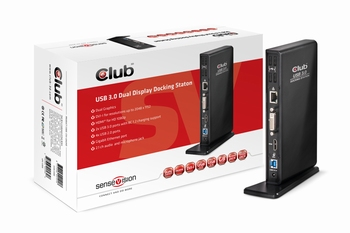 CLUB3D SenseVision USB3.0 Dual Display Docking Station