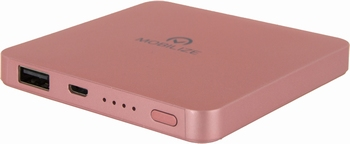 Mobilize Powerbank 6000mAh Single USB 2.1A rosegold
