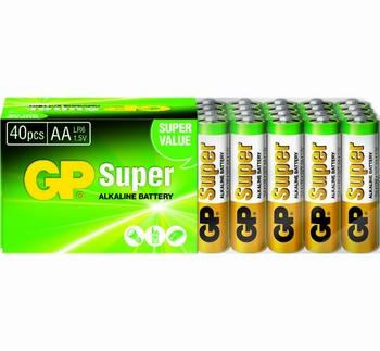 GP Super Alkaline AA 40x