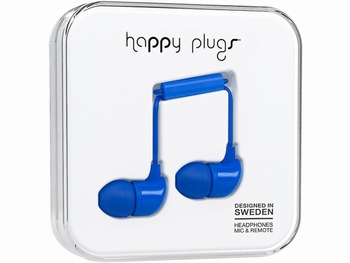 Happy Plug In-ear Headphone Cobalt