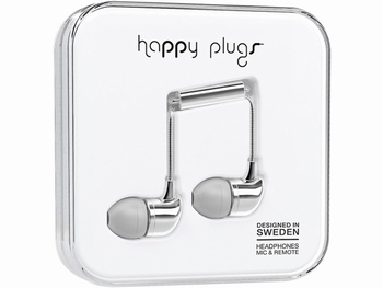 Happy Plug In-ear Headphone Silver