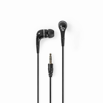 Nedis In ear Headphones 3.5mm 1.2m Black