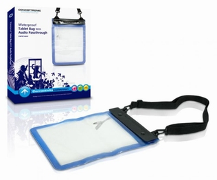 Conceptronic Waterproof Tablet Bag Audio-PT