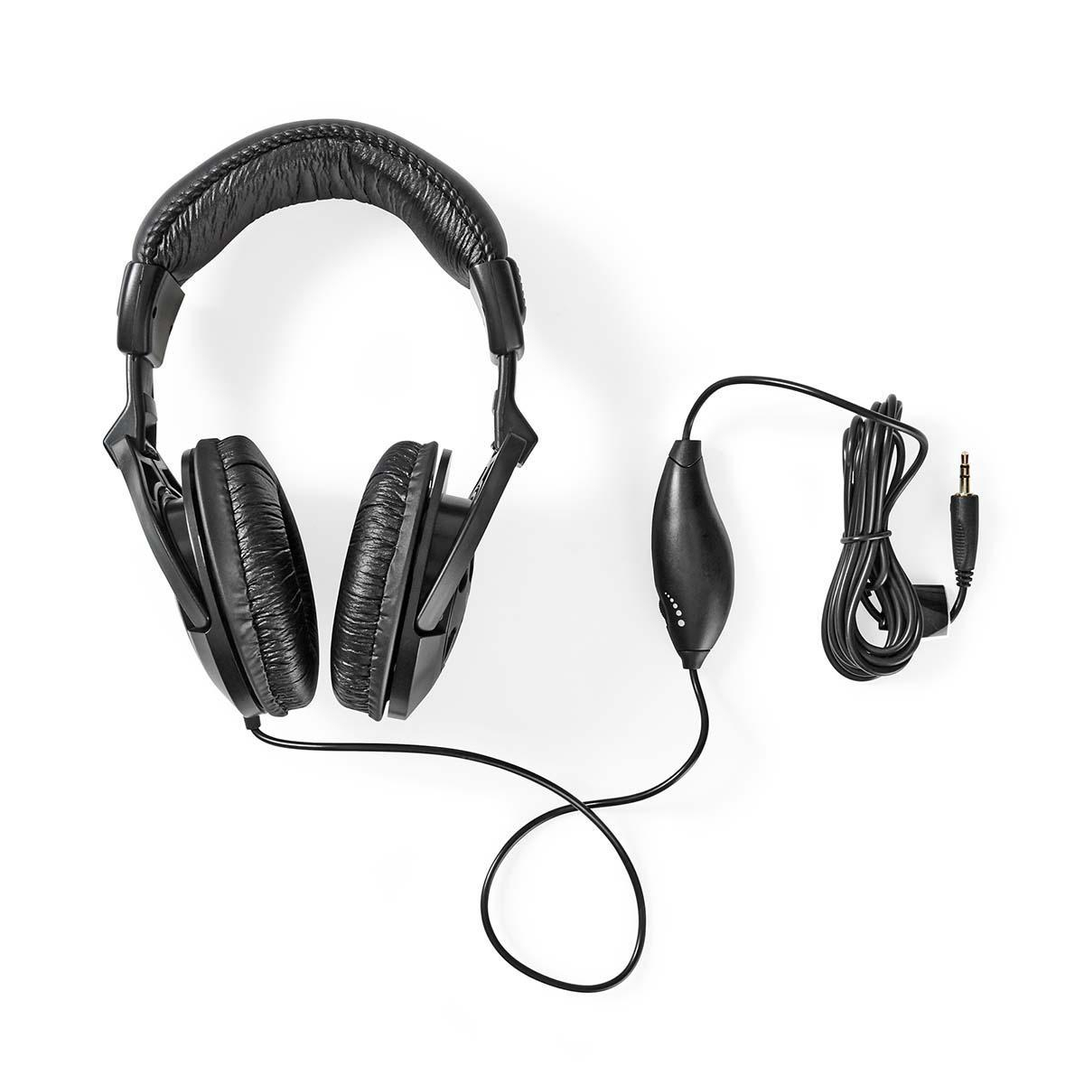 Nedis Over-Ear Headphones with swivl ear pads Black