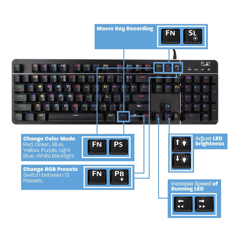 Play Ewent Mechanical Gaming Keyboard